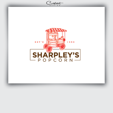 Sharpley's Popcorn A Logo, Monogram, or Icon  Draft # 20 by constantDESIGNS