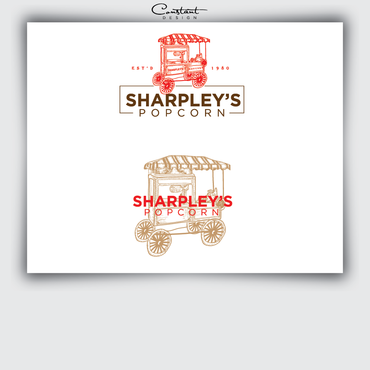 Sharpley's Popcorn A Logo, Monogram, or Icon  Draft # 24 by constantDESIGNS