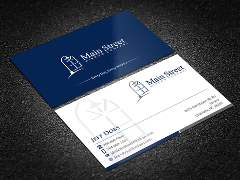 Main Street Window Company Business Cards and Stationery Winning Design by einsanimation