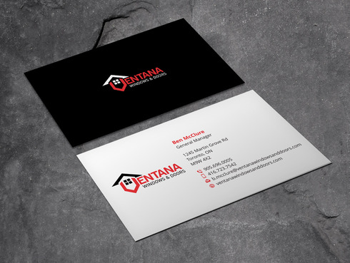 residential window and door manufacturing company Business Cards and Stationery  Draft # 1 by Xpert