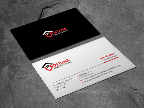 residential window and door manufacturing company Business Cards and Stationery  Draft # 2 by Xpert