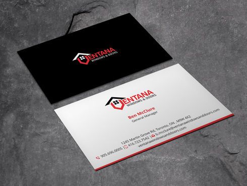 residential window and door manufacturing company Business Cards and Stationery  Draft # 3 by Xpert