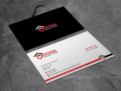 residential window and door manufacturing company Business Cards and Stationery  Draft # 4 by Xpert