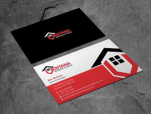 residential window and door manufacturing company Business Cards and Stationery  Draft # 5 by Xpert