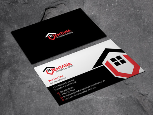 residential window and door manufacturing company Business Cards and Stationery  Draft # 6 by Xpert