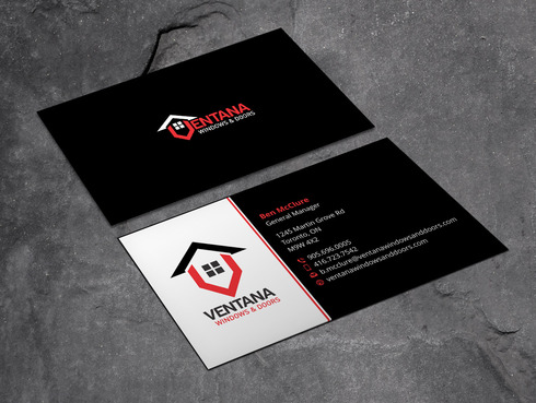 residential window and door manufacturing company Business Cards and Stationery  Draft # 8 by Xpert