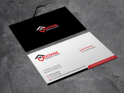 residential window and door manufacturing company Business Cards and Stationery  Draft # 12 by Xpert