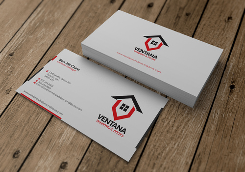 residential window and door manufacturing company Business Cards and Stationery  Draft # 14 by sevensky