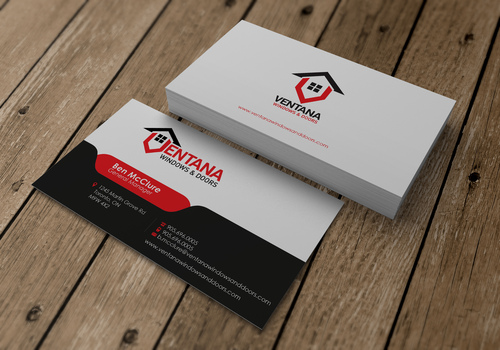 residential window and door manufacturing company Business Cards and Stationery  Draft # 15 by sevensky