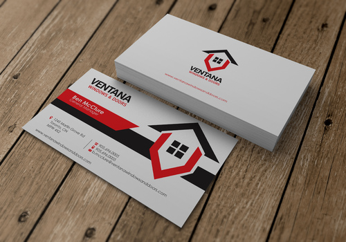 residential window and door manufacturing company Business Cards and Stationery  Draft # 19 by sevensky