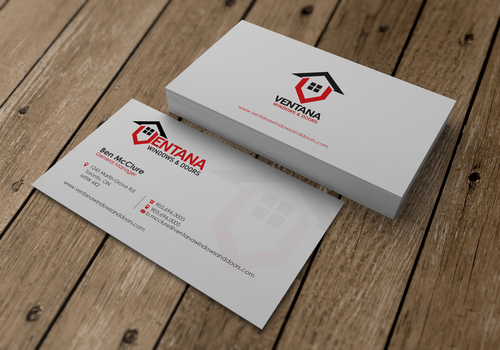 residential window and door manufacturing company Business Cards and Stationery  Draft # 24 by sevensky