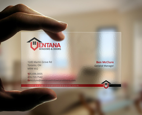 residential window and door manufacturing company Business Cards and Stationery  Draft # 48 by Xpert