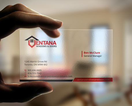residential window and door manufacturing company Business Cards and Stationery  Draft # 49 by Xpert