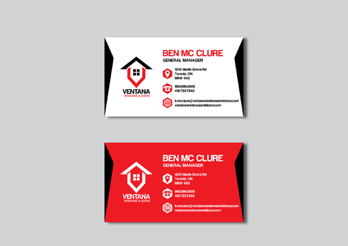 residential window and door manufacturing company Business Cards and Stationery  Draft # 273 by CHEDW