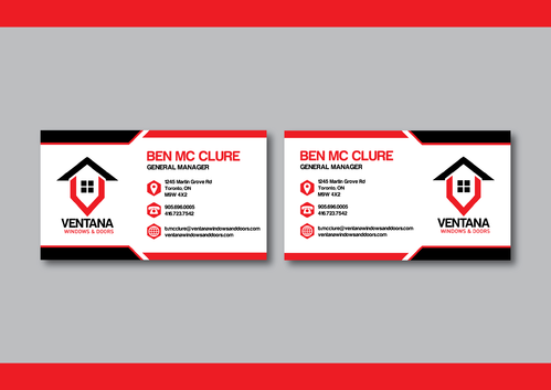 residential window and door manufacturing company Business Cards and Stationery  Draft # 274 by CHEDW
