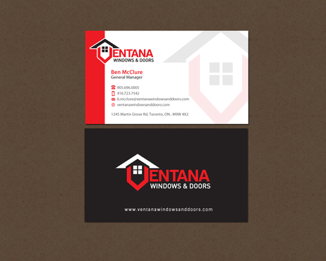 residential window and door manufacturing company Business Cards and Stationery  Draft # 293 by einsanimation