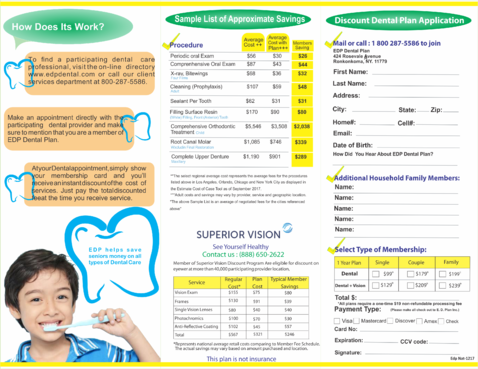 EDP Dental Plan Marketing collateral  Draft # 8 by veriz