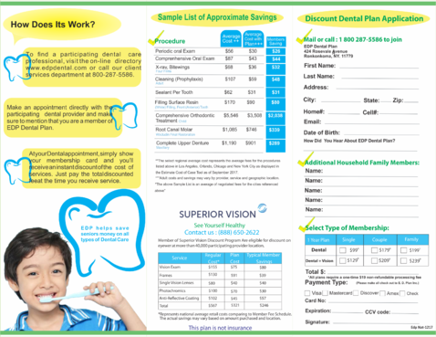 EDP Dental Plan Marketing collateral  Draft # 9 by veriz