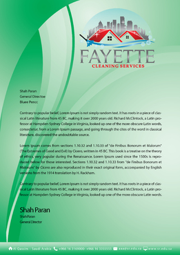 Fayette Cleaning Services, LLC Marketing collateral  Draft # 1 by khanBD