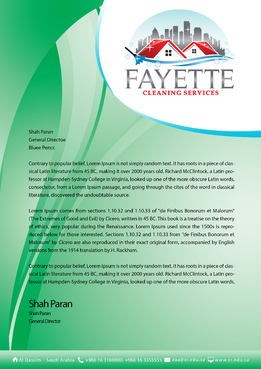 Fayette Cleaning Services, LLC Marketing collateral  Draft # 2 by khanBD