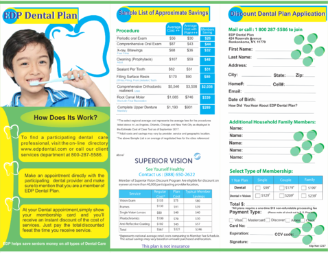 EDP Dental Plan Marketing collateral  Draft # 16 by veriz