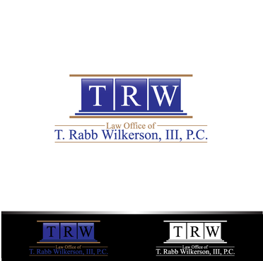 Emphasis on initials TRW;  May contain company name