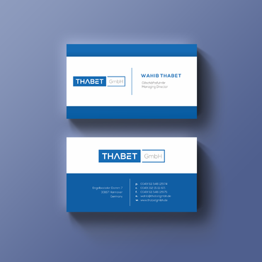Thabet GmbH  Business Cards and Stationery  Draft # 144 by Thegrad