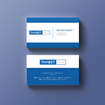 Thabet GmbH  Business Cards and Stationery  Draft # 145 by Thegrad