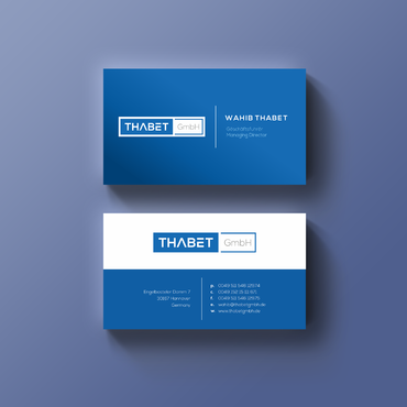 Thabet GmbH  Business Cards and Stationery  Draft # 146 by Thegrad