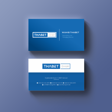 Thabet GmbH  Business Cards and Stationery  Draft # 147 by Thegrad
