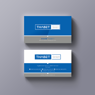 Thabet GmbH  Business Cards and Stationery  Draft # 164 by Thegrad