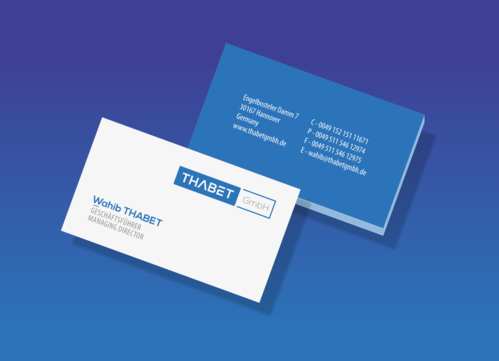 Thabet GmbH  Business Cards and Stationery  Draft # 176 by 1adiman