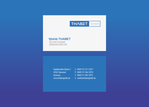 Thabet GmbH  Business Cards and Stationery  Draft # 177 by 1adiman