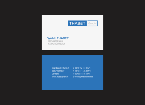 Thabet GmbH  Business Cards and Stationery  Draft # 178 by 1adiman