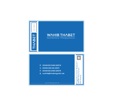 Thabet GmbH  Business Cards and Stationery  Draft # 200 by Dny78
