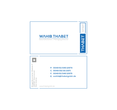 Thabet GmbH  Business Cards and Stationery  Draft # 201 by Dny78