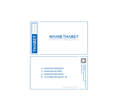Thabet GmbH  Business Cards and Stationery  Draft # 202 by Dny78