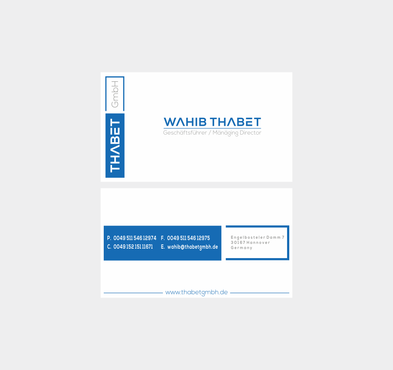 Thabet GmbH  Business Cards and Stationery  Draft # 205 by Dny78