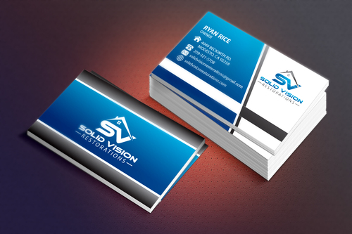 Solid Vision Restorations  Business Cards and Stationery  Draft # 67 by Vincent1986