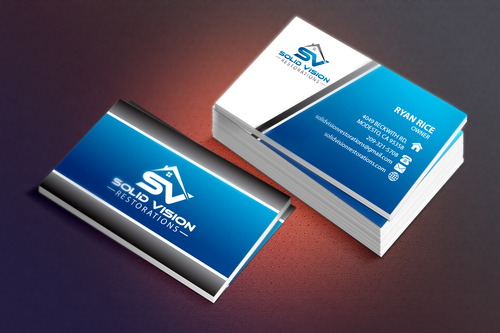 Solid Vision Restorations  Business Cards and Stationery  Draft # 114 by Vincent1986