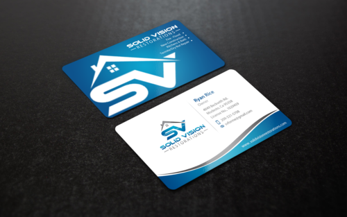 Solid Vision Restorations  Business Cards and Stationery Winning Design by einsanimation