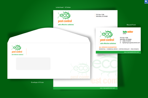 Stationary business card project for eco pest control