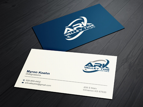 Ark Valley Tire Inc. Business Cards and Stationery  Draft # 148 by creature313