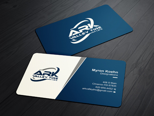 Ark Valley Tire Inc. Business Cards and Stationery  Draft # 168 by creature313