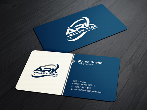 Ark Valley Tire Inc. Business Cards and Stationery  Draft # 169 by creature313