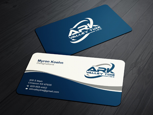 Ark Valley Tire Inc. Business Cards and Stationery  Draft # 170 by creature313