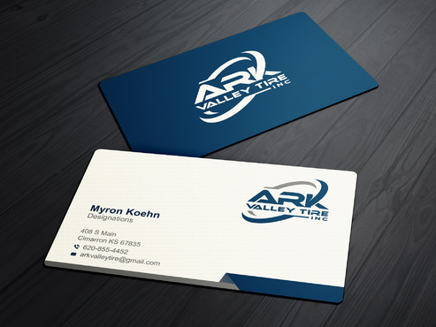 Ark Valley Tire Inc. Business Cards and Stationery  Draft # 175 by creature313
