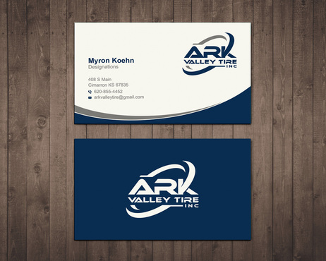 Ark Valley Tire Inc. Business Cards and Stationery  Draft # 177 by creature313