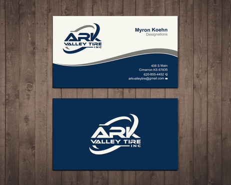 Ark Valley Tire Inc. Business Cards and Stationery  Draft # 178 by creature313