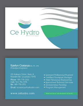 Water Resources, flooding, engineering, hurricanes, rain, flood control structures Business Cards and Stationery  Draft # 143 by elevatedDesigns